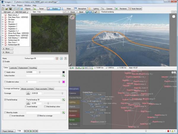 Terragen 2 interface