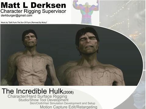 Matt L Derksen 2013 VFX Showreel Character Rigging Demo Reel