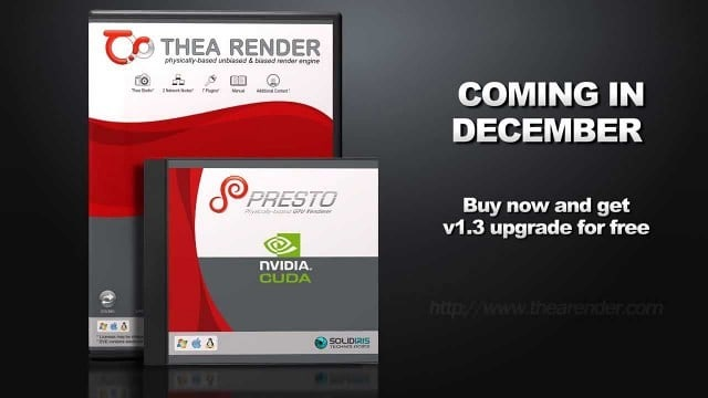 Thea Render v1.3 Technology Preview