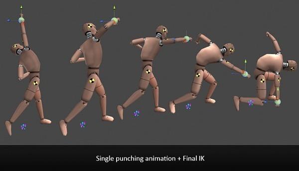 Single Punching Animation + Final IK