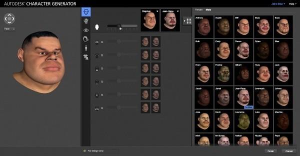 Character Generator Screen