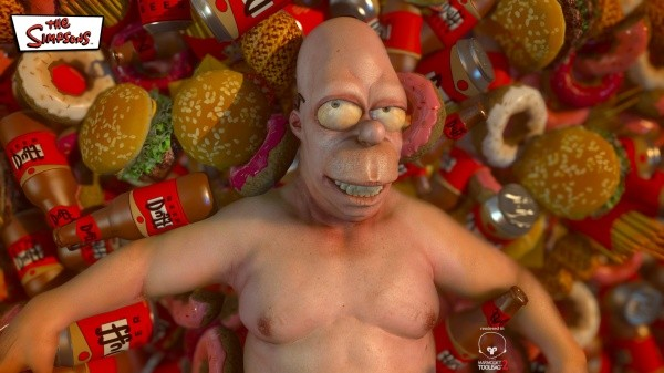 Junk Food is Beauty Homer The Simpsons