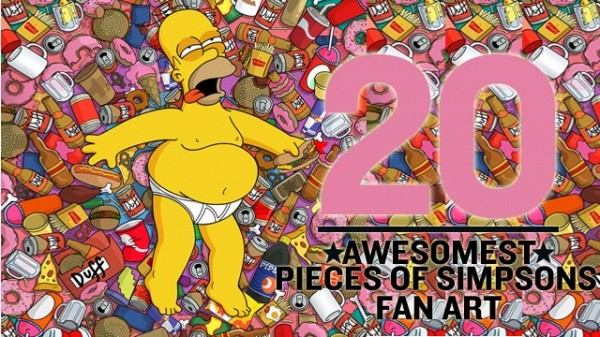 The 20 Awesomest Pieces of Simpsons Fan Art