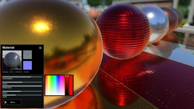 Lumion 5.0 New Materials Interface