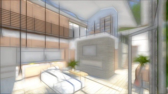 Lumion 5.0 Pastel Sketch Effect