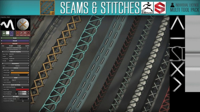 Substance Tools SeamsStitches_Cubebrush_Cover